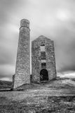 Derelict Magpie mine, abandoned lead mine in Peak District Royalty Free Stock Photography