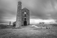 Derelict Magpie mine, abandoned lead mine in Peak District Royalty Free Stock Photo