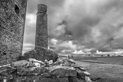 Derelict Magpie mine, abandoned lead mine in Peak District Royalty Free Stock Photos