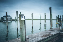 Derelict Marina on the Eastern Shore of VA Royalty Free Stock Photos