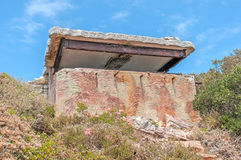 Derelict military observation post from World War II at Cape Poi Stock Image