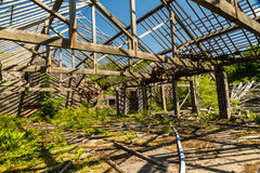 Derelict mill with no roof Stock Photos