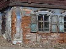 Derelict old building royalty free stock images