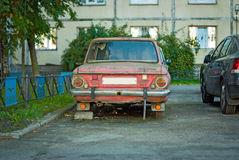 Derelict old car Stock Image