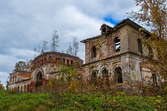 A derelict outbuilding to a dilapidated Church. The Village Of R Royalty Free Stock Images