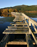 Derelict Pier 2. Derelict Pier at sunrise on Lake Taupo, New Zealand royalty free stock photos