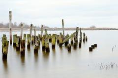Derelict pier. Stock Image