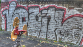 Derelict Playground Stock Image