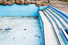 Derelict pool Royalty Free Stock Images