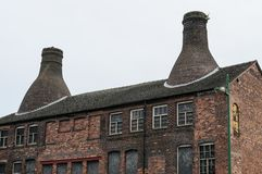 Bottle Kilns in Pottery factory Stock Photography