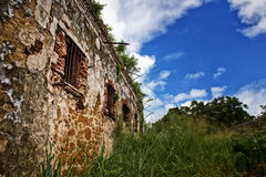 Derelict prison. A deserted and derelict prison on Isle of Pines, New Caledonia Royalty Free Stock Image