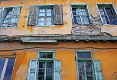 Derelict property in a bad state of repair Stock Photo