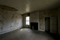 Derelict Room - Abandoned Dudley Snowden House - Appalachian Mountains - Kentucky royalty free stock image