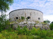 Derelict round building. Somewhere in Hungary Stock Photo
