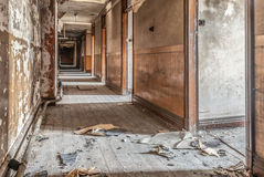 Derelict Corridor Royalty Free Stock Photos