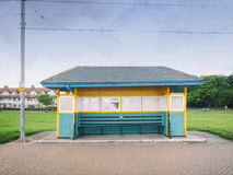 Derelict seaside shelter on the promenade in Paignton Devon UK Royalty Free Stock Photography