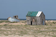 Derelict shed and boat Stock Photography