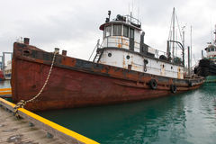 Derelict Ship. A photo of an abandoned ship in the harbor at Homer, Alaska Stock Photography