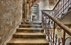 Derelict Staircase. In Abandoned Manor Royalty Free Stock Images