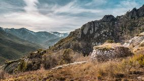 Free Derelict Stone Buiding In Mountains Near Venaco In Corsica Stock Images - 110215924