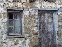 Derelict Stone Building, Greece Royalty Free Stock Photography