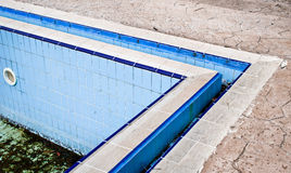 Derelict swimming pool Royalty Free Stock Photography