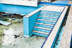 Derelict swimming pool Stock Photography