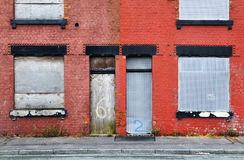 Derelict Terraced House Stock Images