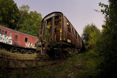 Derelict train Stock Photo