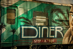 Derelict Train Carriage Diner Stock Image