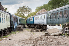 Derelict trains Royalty Free Stock Image
