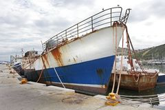 Derelict Trawler, Hout Bay Stock Image