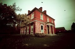 Derelict victorian house Stock Photo