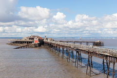 The derelict Victorian pier in Weston-super-Mare. Royalty Free Stock Photo