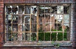 Derelict Warehouse Window Stock Images