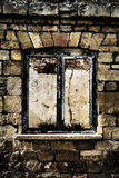 Derelict window frame Royalty Free Stock Photos