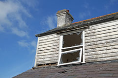 Derelict wrecked abandoned home Royalty Free Stock Image
