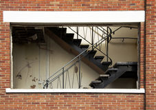 Dereliction. Derelict office buildings in Cheshire, UK royalty free stock photography