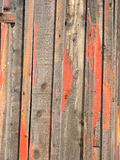 Dereliction of Doorway. A weathered plank doorway on old steel shed has lots of vintage charm royalty free stock image