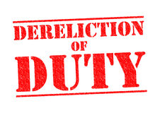 DERELICTION OF DUTY Royalty Free Stock Image