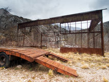 Dereliction. Old industrial site. Rusty. Abandoned places, former industrial site royalty free stock image