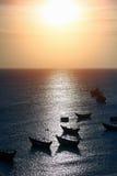 Derevnny boat Royalty Free Stock Image