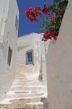 Schilderachtige Griekse huizen Royalty-vrije Stock Fotografie