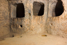 derinkuyu Τουρκία πόλεων σπηλιών cappadocia Στοκ φωτογραφία με δικαίωμα ελεύθερης χρήσης