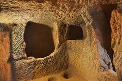Derinkuyu cave city in Cappadocia Turkey Stock Photos