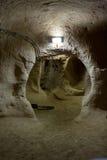 Derinkuyu ondergrondse stad, Cappadocia in Centraal Anatolië stock afbeelding