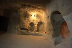 Underground City, Travel to Cappadocia, Turkey Royalty Free Stock Photography