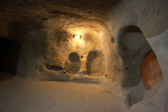 Underground City, Travel to Cappadocia, Turkey Royalty Free Stock Photography