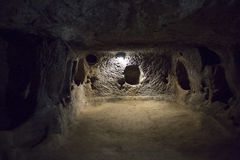 Derinkuyu underground city, Cappadocia Stock Images