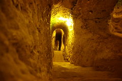 Derinkuyu underground city Royalty Free Stock Photo